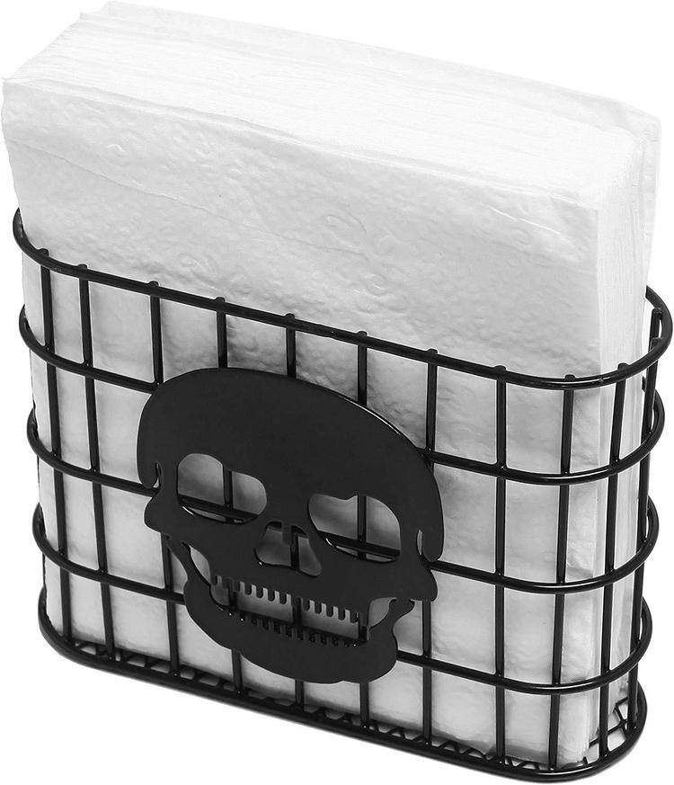 Skull Metal Wire Napkin Dispenser - MyGift