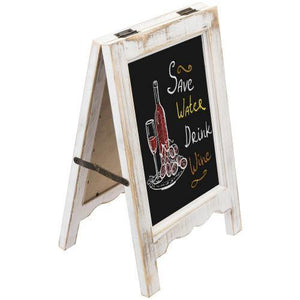 Small A-Frame Whitewashed Wood Tabletop Chalkboard Sign - MyGift