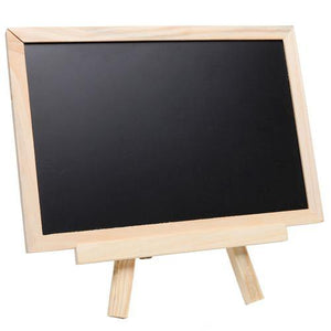 Small Wood Chalkboard Whiteboard Easel w/Chalks, Magnets & Marker - MyGift