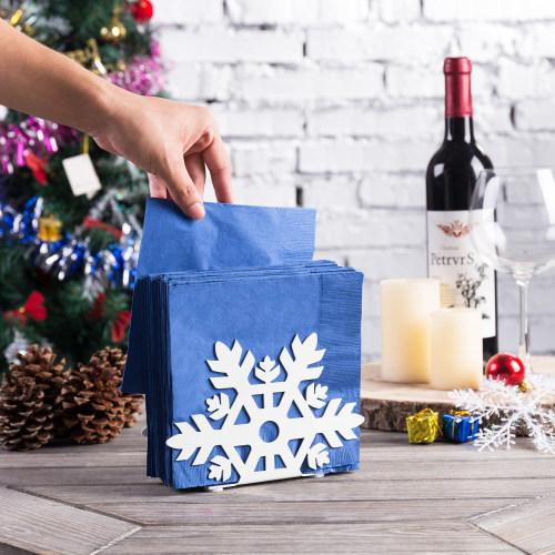 Snowflake Cutout Design Napkin Holder