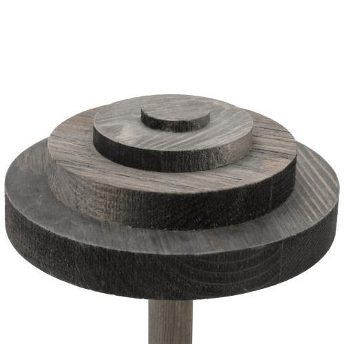 Stack-Up Style Gray Wood Hat Display Stands, Set of 2 - MyGift
