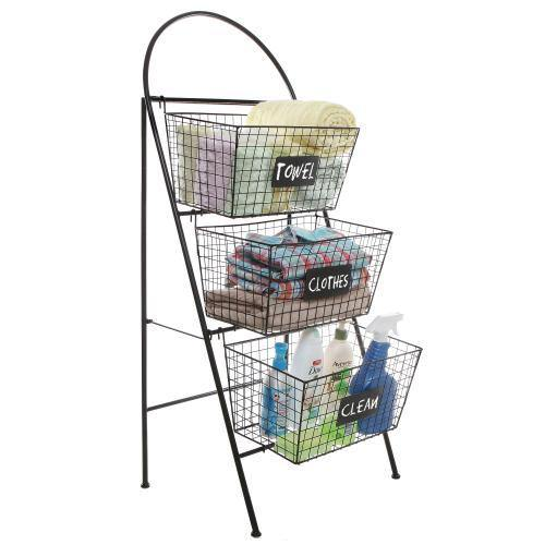 Storage Basket Organizer with Chalkboard Labels - MyGift
