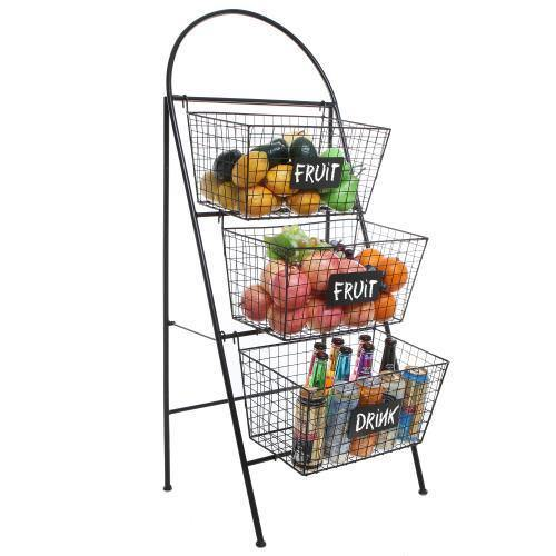 Storage Basket Organizer with Chalkboard Labels