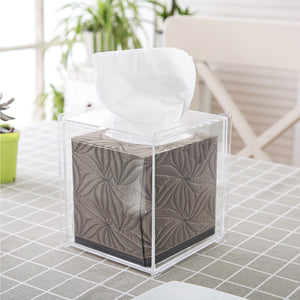 Clear Acrylic Tissue Box Cover, Square
