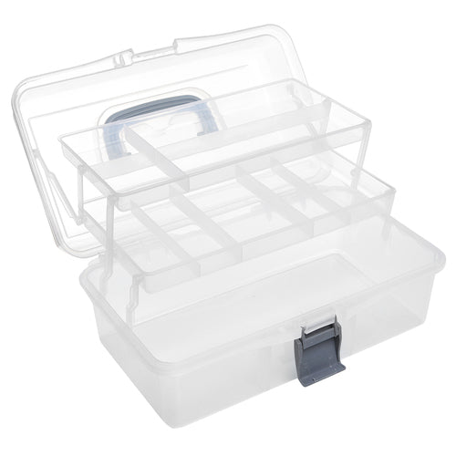 Clear and Gray Plastic Multipurpose Box-MyGift