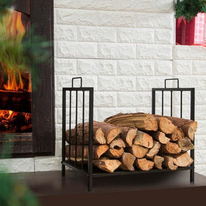 Black Metal Firewood Rack