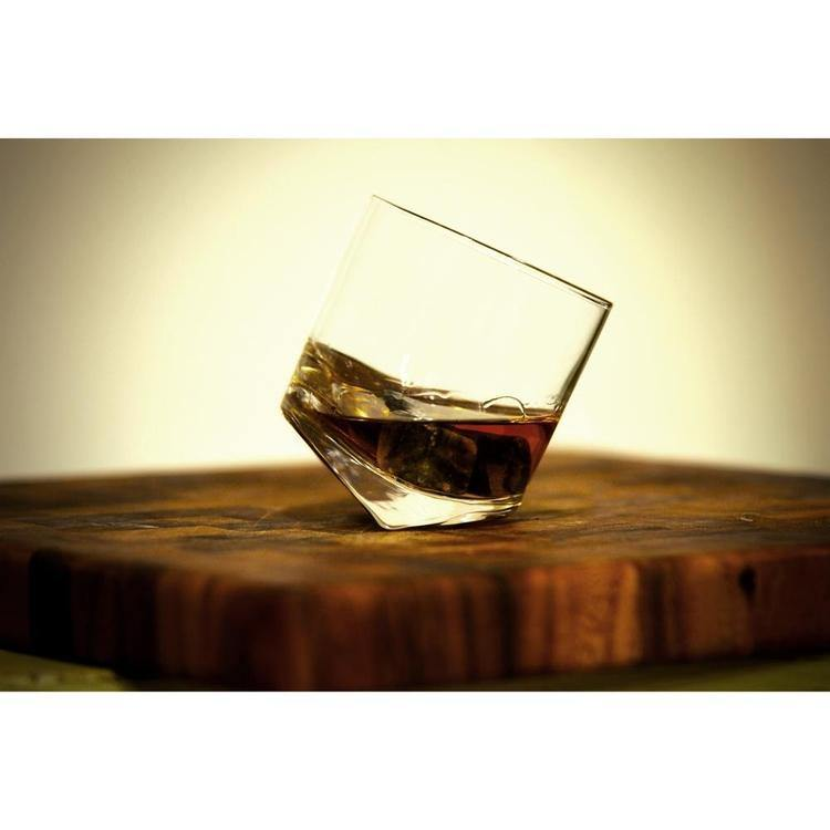 Tilting Whiskey Scotch Glasses, Set of 4 in Gift Box - MyGift