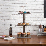 Torched Wood Dessert & Pastry Stand