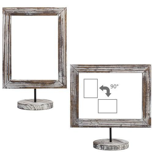 Torched Wood Double-Sided Picture Frames, Set of 2 - MyGift