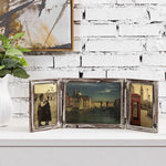 Torched Wood Tabletop Picture Frame, Three-Hinged - MyGift