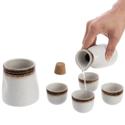 Traditional Japanese Ceramic Sake Set