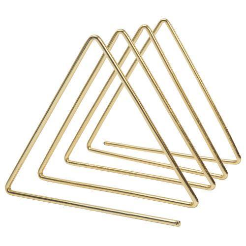 Triangular Brass Tone Wire Magazine/Mail/File Sorter - MyGift