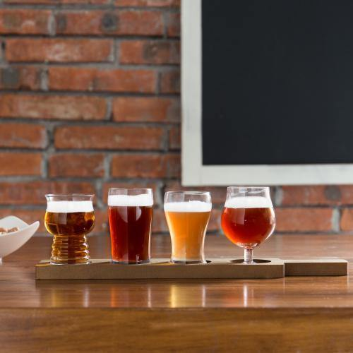 Variety Craft Beer Tasting Flight Set with Glasses, Set of 2