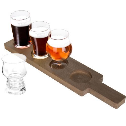 Variety Craft Beer Tasting Flight Set with Glasses