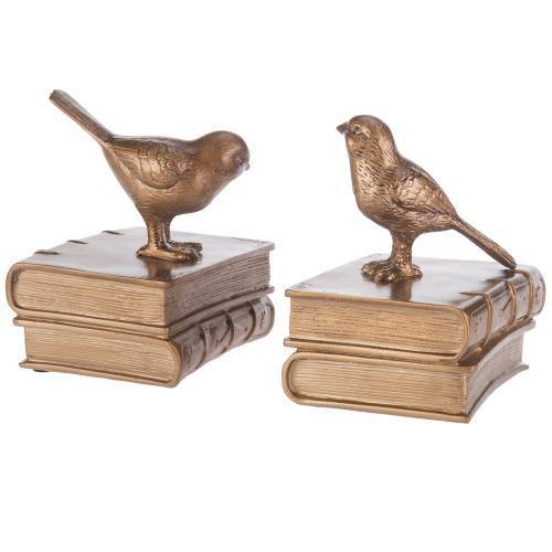 Vintage Brass Bird Bookends - MyGift