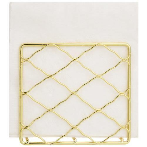 Vintage Design Brass Metal Napkin Holder