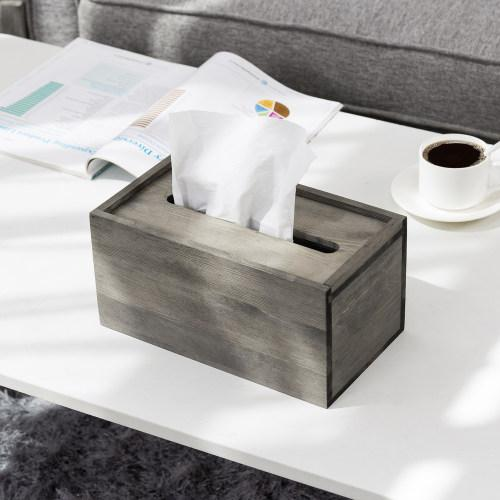 Vintage Grey Tissue Box Cover