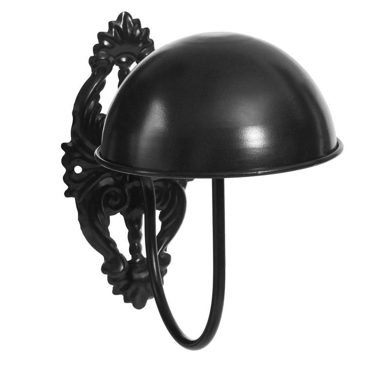 Vintage Black Metal Wall Mounted Entryway Hat / Cap / Wig Hanger Display Rack - MyGift Enterprise LLC