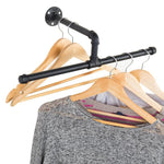Industrial Rustic Wall-Mounted 20-Inch T-Bar Pipe Hanging Clothing Rack - MyGift Enterprise LLC