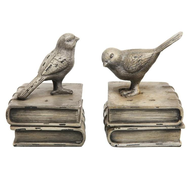 White Birds & Books Design Bookends