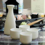 White Ceramic Sake Serving Set