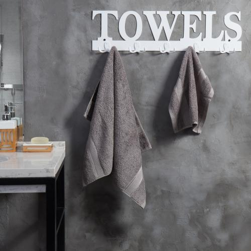 White Metal TOWELS Design Wall Mounted Towel Rack