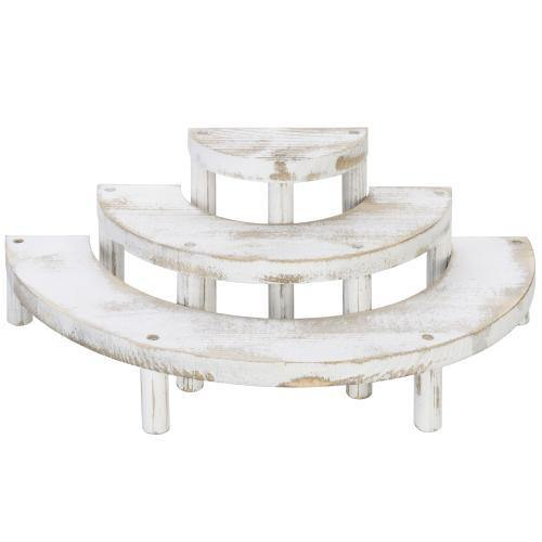 White Washed 3-Tier Retail Display Risers - MyGift