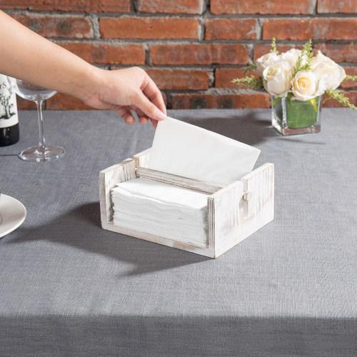 Whitewashed Wood Napkin Holder - MyGift