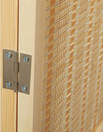 Woven Bamboo 4 Panel Room Divider