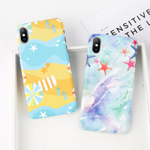 Beach Theme Pattern Case for iPhone. Design Case for iPhone 6/6s, iPhone 6/6s Plus, iPhone 7, iPhone 7 Plus, iPhone 8, iPhone 8 Plus & iPhone X. Affordable, trendy and unique Phone Case for iPhone lovers. Beach Theme Pattern Case for iPhone suits cool and trendy style. Get your Beach Theme Pattern Case for iPhone at RCJR Supply.