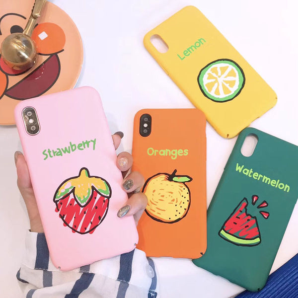 Cute Fruity Case for iPhone. Design Case for iPhone 6/6s, iPhone 6/6s Plus, iPhone 7, iPhone 7 Plus, iPhone 8, iPhone 8 Plus & iPhone X. Affordable, trendy and unique Phone Case for iPhone lovers.Cute Fruity Case for iPhone suits cool and trendy style.Get your Cute Fruity Case for iPhone at RCJR Supply.