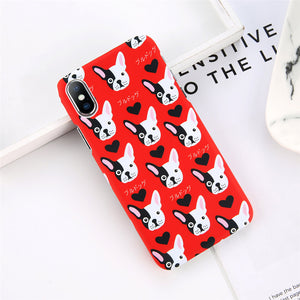 Frenchie Back Cover Case for iPhone. Design Case for iPhone 6/6s, iPhone 6/6s Plus, iPhone 7, iPhone 7 Plus, iPhone 8, iPhone 8 Plus & iPhone X. Affordable, trendy and unique Phone Case for iPhone and Dog lovers.Frenchie Back Cover Case for iPhone suits cool and trendy style.Get your Frenchie Back Cover Case for iPhone at RCJR Supply.