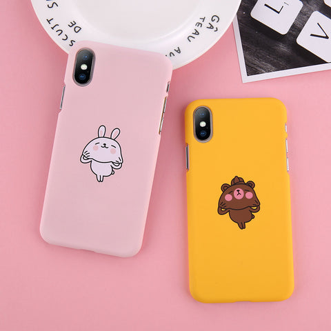 Funny Cartoon Rabbit x Bear Case for iPhone. Design Case for iPhone 6/6s, iPhone 6/6s Plus, iPhone 7, iPhone 7 Plus, iPhone 8, iPhone 8 Plus & iPhone X. Affordable, trendy and unique Funny Cartoon Rabbit x Bear Case for iPhone lovers. Funny Cartoon Rabbit x Bear Case for iPhone suits cool and trendy style.Get your Funny Cartoon Rabbit x Bear Case for iPhone at RCJR Supply.