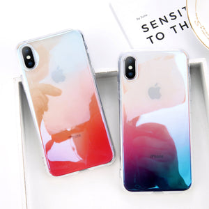Gradient Color Clear Case for iPhone