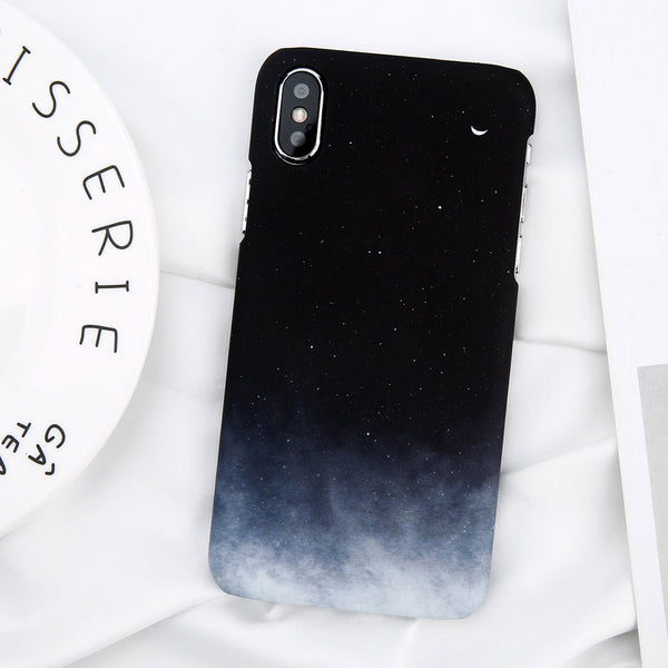 Gradient Sky x Moon case for iPhone X.  Affordable, trendy and colorful sky and moon design for iPhone lovers. Our trendy and fashionable iPhone cases suit from all ages and gender all over the world.Get your iphone casing and accessories only at RCJR Supply