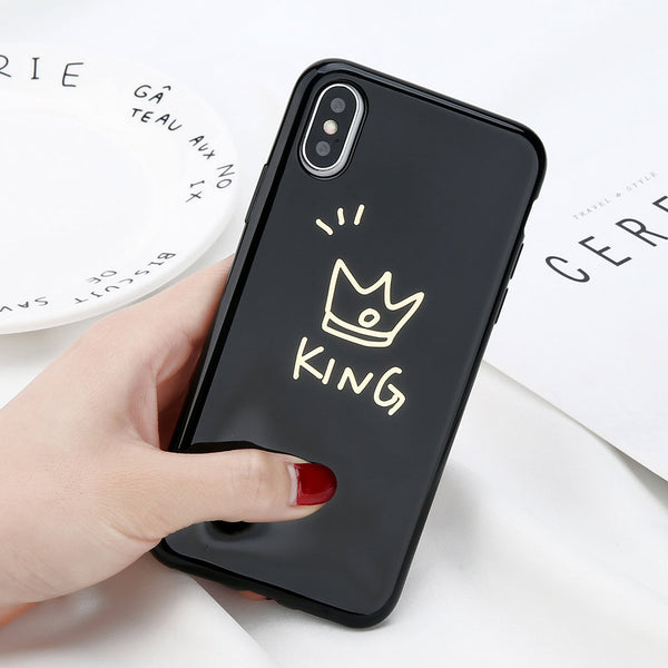 iPhone X Glossy King & Queen Case.  Affordable, trendy and glossy king and queen case design for iPhone lovers. iPhone X Glossy King & Queen Case is perfect gift for couple.Our trendy and fashionable iPhone cases suit from all ages and gender all over the world.Get your iphone casing and accessories only at RCJR Supply.