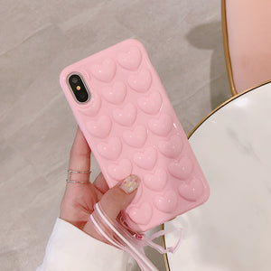Heart iPhone X Casing with Lanyard.  Affordable, trendy and heart shaped design for iPhone lovers. Our trendy and fashionable iPhone cases suit from all ages and gender all over the world.it comes  with lanyard. Get your iphone casing and accessories only at RCJR Supply.