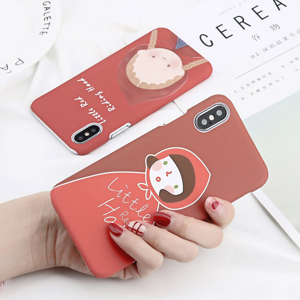 Little Red Girl Case for iPhone