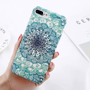 Luminous Mandala Flower Case for iPhone. Design Case for iPhone 6/6s, iPhone 6/6splus, iPhone 7, iPhone 7plus, iPhone 8 and iPhone 8plus. Affordable, trendy and classy design for iPhone lovers.If you love art design casing, a mandala flower design is surely a choice. Luminous Mandala Flower Case is perfect gift for a loveones and friends. Get your iphone casing and accessories only at RCJR Supply.