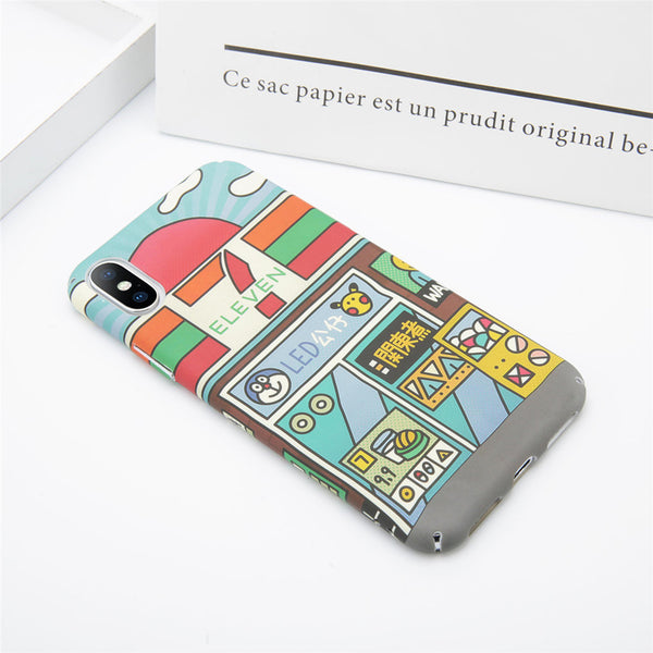 Matte Finish Cartoon Case for iPhone
