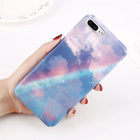 Matte Rainbow Sky Case for iPhone. Designed for iPhone 6/6s, iPhone 6/6s Plus, iPhone 7, iPhone 7 Plus, iPhone 8/8 Plus only. Affordable, trendy and cute rainbow sky case design for iPhone lovers. Candy Matte Rainbow Sky Case for iPhone suit your cool and trendy personality. .Get your Matte Rainbow Sky Case for iPhone at RCJR Supply.