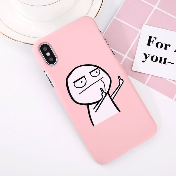 Middle Finger Matte case for iPhone X. Affordable, trendy and fashionable middle finger matte design for iPhone X lovers.If you love funy and funky matte design casing, this iPhone X casing is surely a choice for a trendsetter like you. Middle Finger Matte case for iPhone X is perfect gift for friends. Get your iphone casing and accessories only at RCJR Supply.