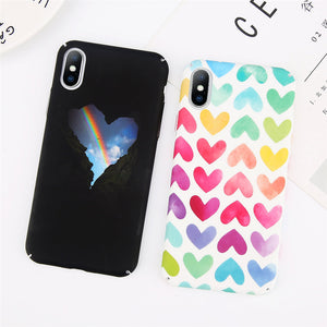 Rainbow Heart Case for iPhone. Design Case for iPhone 6/6s, iPhone 6/6s Plus, iPhone 7, iPhone 7 Plus, iPhone 8, iPhone 8 Plus & iPhone X. Affordable, trendy and unique Rainbow Heart Case design for iPhone lovers. Rainbow Heart Case suit cool and trendy style.Get your Rainbow Heart Case at RCJR Supply.