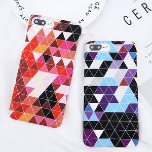 Triangle Mosaic Geometric Case for iPhone. Design Case for iPhone 6/6s, iPhone 6/6s Plus, iPhone 7, iPhone 7 Plus, iPhone 8 and iPhone 8 Plus. Affordable, trendy and cool design for iPhone lovers. Triangle Mosaic Geometric Case for iPhone suit your cool and trendy fashion. Our Triangle Mosaic Geometric Case for iPhone comes in different colors.Get your Triangle Mosaic Geometric Case for iPhone at RCJR Supply.