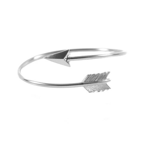 Adjustable Round Arrow Bangle Bracelet, silver bracelet, bracelets with arrrow, fashionable bracelets for gifts, trendy accessories