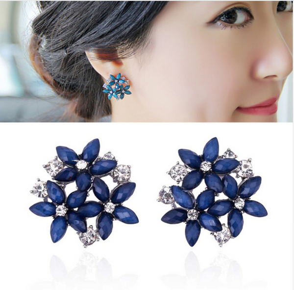 Crystal Rhinestone Stud Earrings. Affordable, trendy and colorful crystal stud earrings. Our trendy and fashionable crystal rhinestone earrings are perfect accessory for any attire.Our Crystal Rhinestone Stud Earrings will surely match for a trendsetter like you.Get your earrings and accessories only at RCJR Supply.