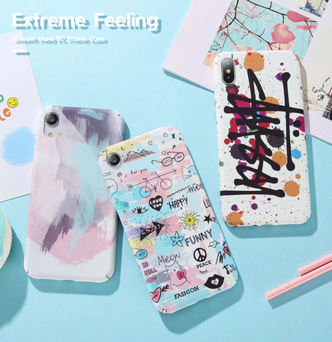 Chic Doodle Pattern for iPhones designed for iPhone 6/6s, iPhone 6/6s Plus, iPhone 7, iPhone 7 Plus, iPhone 8/8 Plus & iPhone X, XS, XR. Affordable and trendy iPhone case.  Made of high quality plastic with matt finish. Get your Chic Doodle Pattern for iPhones  at RCJR Supply.