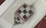 Diamond Check Ring