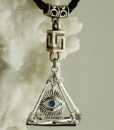 God's Eye Pyramid Pendant