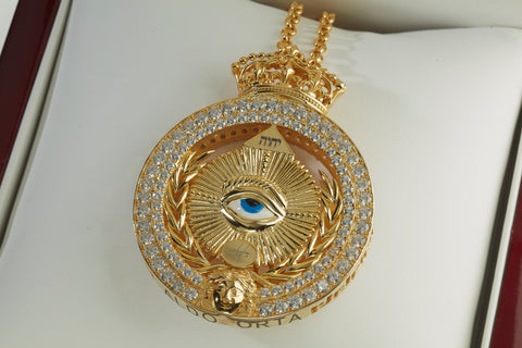 All Seeing Eye Medallion Pendant Large